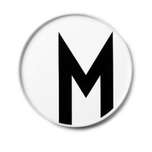 Talerz porcelanowy litera m design letters