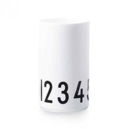 Wazon biały 0-9 large design letters