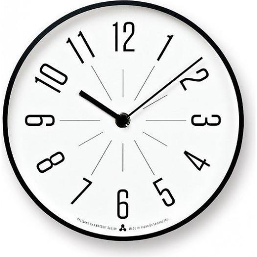 Zegar awa jiji biała tarcza czarna oprawa