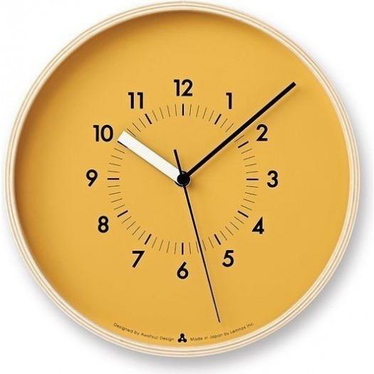 Zegar awa soso pomarańczowa tarcza