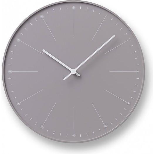 Zegar ścienny dandelion szarobrązowy