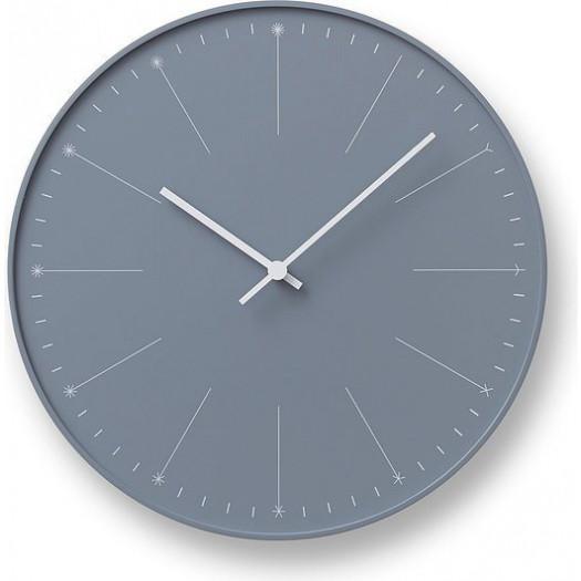 Zegar ścienny dandelion szary