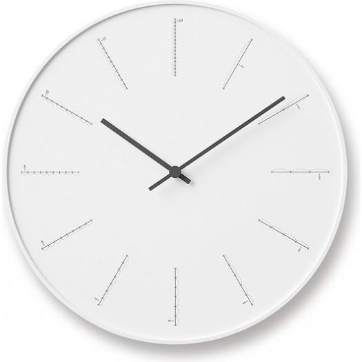 Zegar ścienny divide biały