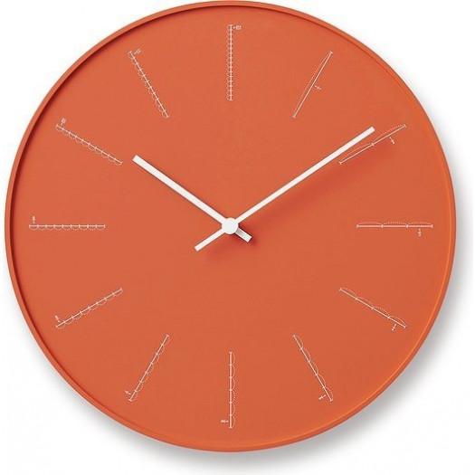 Zegar ścienny divide pomarańczowy