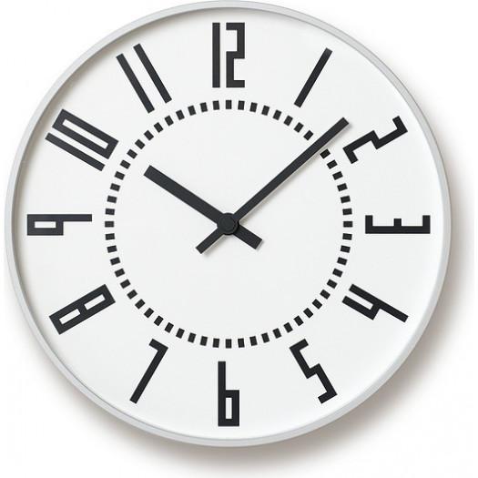 Zegar ścienny eki biały