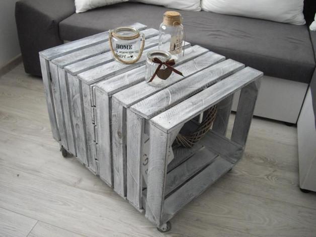 Bardzo dobra Nowy stolik kawowy szafka stare drewno skandynawsk - EnyoArt PG38